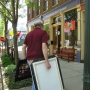62 dropping-off-paintings-at-art-show