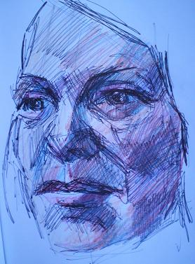 ballpoint-and-colored-pencil