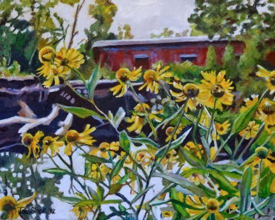 Flowers-and-Bridge